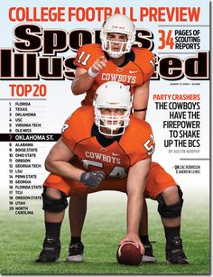 Oklahoma State Cowboys Football | On the Cover: Zac Robinson, Football, Oklahoma State Cowboys