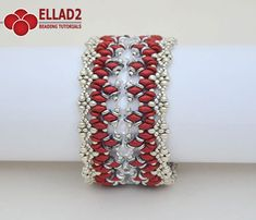 Calista Bracelet is a beautiful bracelet made with new Kheops by Puca triangle beads, Superduo and O-beads. Project skill level: intermediate.
