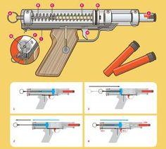 MAKE Volume 29 Better Nerf Gun Illustration by Timmy Kucynda