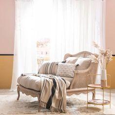 Vase en céramique blanche et beige rosé H30 | Maisons du Monde