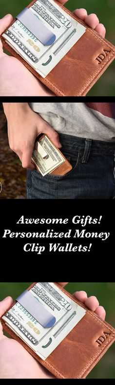 Awesome Money Clip Wallets!  Make great gifts!    MADE IN USA!