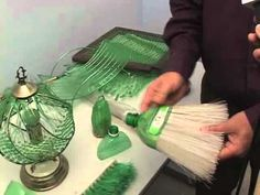 This manual machine, invented in Brazil, creates a fiber out of plastic bottles, which can then be used for other projects. Amazing, I need one of these!!! @GreenStreamline you must see this!