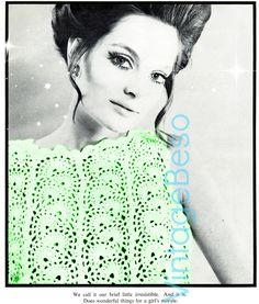 Dress Crochet PATTERN Vintage 70s Bluebell Crochet Pattern
