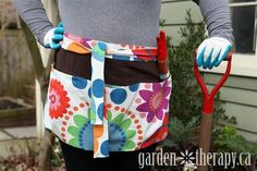 DIY Tutorial - How to make a garden apron