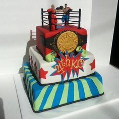 Wrestling cake for icing smiles. #icingsmiles. Www.facebook.com/clairescutecakes