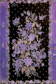 SARUNG BUKETAN  City or Location of Origin: Pekalongan, Central Java  Pattern: Sarung Buketan  Workshop or Atelier: Oei Tjing Nio  Type: Hand-drawn batik (batik tulis)  Dimensions: Sarong (2.15 m x 1.10 m)  Fabric: Cotton  Dyes: Chemical  Date: 1938  Collection: Iwan Tirta