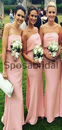 Pink Mermaid Unique Elegant Long Bridesmaid Dresses WG888  #Long #mismatched #blush #summer #bridesmaiddress #fall #bridesmaiddresses #bridesmaids #weddingguest #wedding Formal Bridesmaids Dresses, Champagne Bridesmaid Dresses, Wedding Dresses, How To Make Shoes, Famous Brands, Dress Backs, Cheap Dresses, Dream Dress, Dress Making