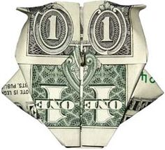 Make an owl with a dollar bill Origami Gifts, Money Origami, Origami Paper, Origami Ideas, Folding Money, Origami Folding, Paper Folding, Origami Instructions, Origami Tutorial