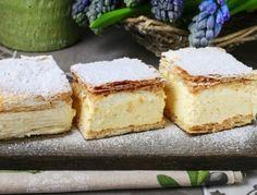 Cremeschnitten - Rezept  - ichkoche.at Custard Cream Cake, Cream Pie, Austrian Cuisine, Cut Recipe, Traditional Cakes, Healthy Cake, French Pastries, Calories, Sweet Cakes