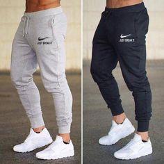 New Jogger JUST BREAK IT Pants Men Fitness Bodybuilding Gyms Pants For Runners Man Workout Sportswear Sweatpants Sweat Trousers-geekbuyig Mens Sweatpants, Jogger Sweatpants, Sweatpants Style, Fashion Sweatpants, Jogger Pants Style, Mens Jogger Pants, Skinny Joggers, Mens Trousers Casual, Men's Fashion Styles