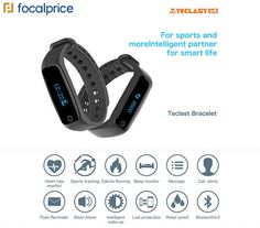 Teclast H30 Bluetooth 4.0 Heart Rate Monitor Smart Bracelet Was: $23.89 Now: $19.79.