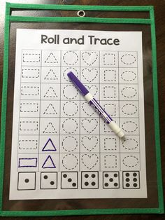 Included is numbers and 12 different shapes. Students roll the dice and trace the shape or number. Perfect for math centers! Preschool Learning Activities, Homeschool Kindergarten, Teaching Math, Preschool Activities, Kids Learning, Learning Shapes, Number Games Preschool, Preschool Forms, Shape Activities Kindergarten