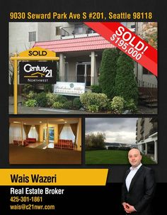 Great day for Wais Wazeri !! Congrats on your SOLD listing in Seattle!! Great work!  Interested? You can call Waiz or our Kirkland office @ 425-250-3301.  MLS# 870505 http://www.century21.com/property-C2179J5CY