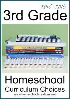 3rd grade homeschool curriculum choices from Homeschool Creations