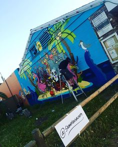 The Döpest  @snyderart @sebastienwalker #carlsbadartwall #sebastienwalker #senorgrubbys #canvas #spraypaint #artist #caliartist #supportyourlocalartist #graffiti #cbad #carlsbadvillage #freehand #talent #awesome #artoftheday #arts #mural #sandiego #peace #love #happiness @senorgrubbys by a_miner