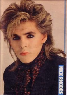 Lovely shot of Nick Rock Hairstyles, Ugly Hairstyles, New Wave Music, Nick Rhodes, The Blitz, Band Pictures, John Taylor, New Romantics, 80s Music