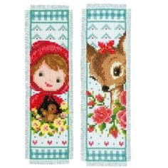 Vervaco Kit marque-page Bambi et chaperon rouge PN-0150895 chez Univers Broderie