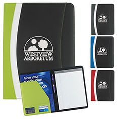 Atchison® by BIC Graphic - Color Curve Padfolio. #promoproducts