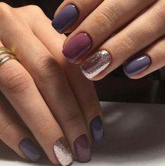 Fall nail art designs - Hair and Beauty eye makeup Ideas To Try - Nail Art Design Ideas Fall Nail Art Designs, Colorful Nail Designs, Winter Nails Colors 2019, Winter Colors, Shellac Pedicure, Manicure Ideas, Gel Manicure, Fall Pedicure, Neutral Nail Art