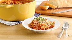 One-Pot Creamy Spaghetti - We had to try this one-pot wonder to believe it, but trust us when we say you'll never make spaghetti any other way.