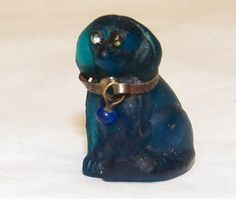 Czech Glass Cracker Jack Doxie  Charm by tazp151 on Etsy, $50.00