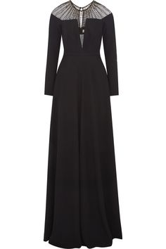 Temperley LondonEmbellished tulle-paneled crepe gownfront