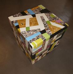 Würfel, Cube, Sideboard, Holz, Hochglanzlack, ca. 45 x 45 x 45 cm Small Furniture, Sideboard, Cube, Gift Wrapping, Toys, Gifts, Textile Design, Gift Wrapping Paper, Activity Toys