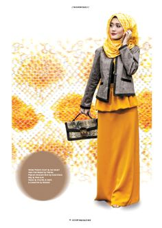 """PATTERN VS BOLD Fashion says """"Me too!"""", style says """"Only me!"""" #ScarfMagazineVol01 #fashiondaily #hijabers"""