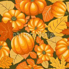 Pumpkins And Leaves Vector Pattern Vector Pattern, Pattern Design, Leaves Vector, Starter Set, Warm Colors, Surface Design, All Design, Halloween, Pumpkins