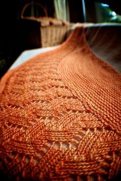 Bru by Amanda B Collins. malabrigo Silky. Camote colorway.