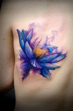 Watercolor lotus tattoo – 70 Elegant Lotus Tattoo Designs ♥ ♥ - New Piercings Lotus Tattoo Design, Purple Lotus Tattoo, Flower Tattoo Designs, Flower Tattoos, Lotus Design, Aquarell Lotus Tattoo, Tattoo Aquarelle, Watercolor Lotus Tattoo, Aquarell Tattoos