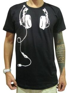 Buy Bunny Brand Funky Indie DJ Headphones T-Shirt for men or women. DJ T-Shirt design and clothing. Save 20% off for new customer and worldwide delivery!