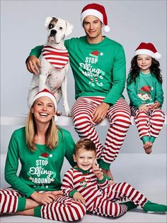 US Family Mum Dad Little Christmas Team Snowmen In Training Festive Xmas Pyjamas