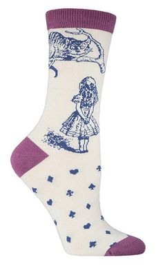 Bamboo Cheshire Cat Socks from The Sock Drawer
