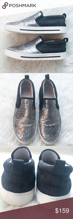 """MARC BY MARC JACOBS Leather Glitter Slip-On Shoes """" MARC BY MARC JACOBS """"      Leather Slip On Sneakers     Sparkling Silver Glitter  Size : 38   Some minor wear and glitters came off on tiny spot of left toe but over all they are in great used condition. They still have a lot of life in them.  Please see the pictures.  Thank you for looking my item. Please check out my other items. Marc By Marc Jacobs Shoes Sneakers"""
