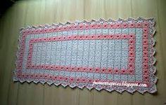 Resultado de imagem para graficos de cantinhos de tapetes ovais de croche