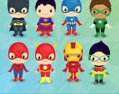 Superhéroe niñas Imágenes Prediseñadas por CuteGraphicSupply
