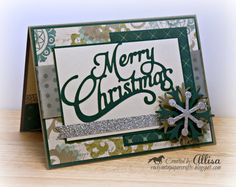 CTMH Merry Christmas with Avonlea paper and the Artiste Cricut cartridge!!!