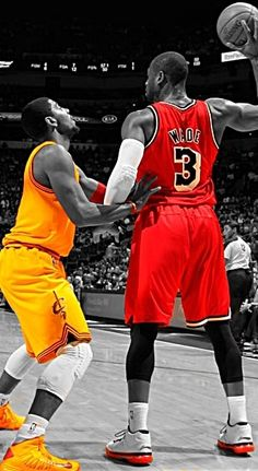 Kyrie Irving and Dwyane Wade.