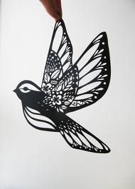 chinese paper cut bird - Pesquisa Google