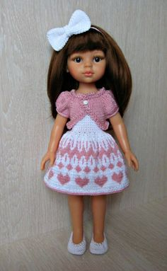 VK is the largest European social network with more than 100 million active users. Knitted Romper, Knitted Dolls, Girl Dolls, Baby Dolls, Homemade Dolls, Dress Neck Designs, American Doll Clothes, Doll Costume, Knit Fashion