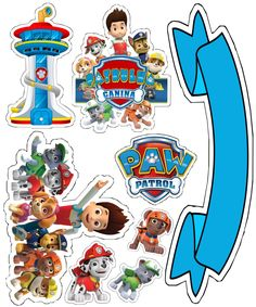 Paw Patrol Birthday Theme, Paw Patrol Party, Imprimibles Paw Patrol, Paw Patrol Cake Toppers, Cumple Paw Patrol, Paw Patrol Invitations, Dog Cakes, Baby Boy Birthday, 4th Birthday Parties