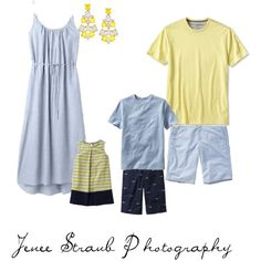 What to wear for your family photo session: blues and yellows. www.jeneestraubphoto.com Katy, Texas photographer