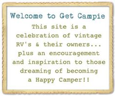Great blog about vintage campers and the decorations inside