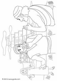 The Tower of Babel Bible coloring page - FREE printable for home or church.