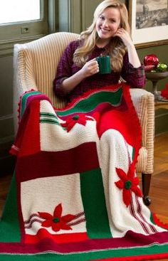 One Dozen More Christmas Afghans to Knit – free patterns – Grandmother's Pattern Book