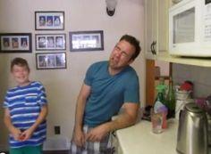 Dad mimics 6-year-old's temper tantrum
