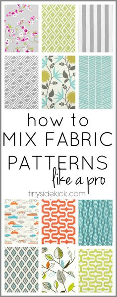 Sewing Quilts This is so much easier than I thought! Just a few easy steps to mixing patterns. It's going to help so much when it comes to adding interest to my home xxxdecor. Quilting Tips, Quilting Tutorials, Quilting Projects, Sewing Tutorials, Quilting Fabric, Techniques Couture, Sewing Techniques, Fabric Patterns, Sewing Patterns