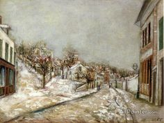 Maurice Utrillo View Of Pontoise oil painting reproductions for sale