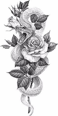 The clock - - Flower Tattoo Designs, Flower Tattoos, Snake Tattoo, I Tattoo, Wolf Und Mond Tattoo, Handmade Wall Clocks, Paar Tattoos, Tattoo Templates, Arm Sleeve Tattoos